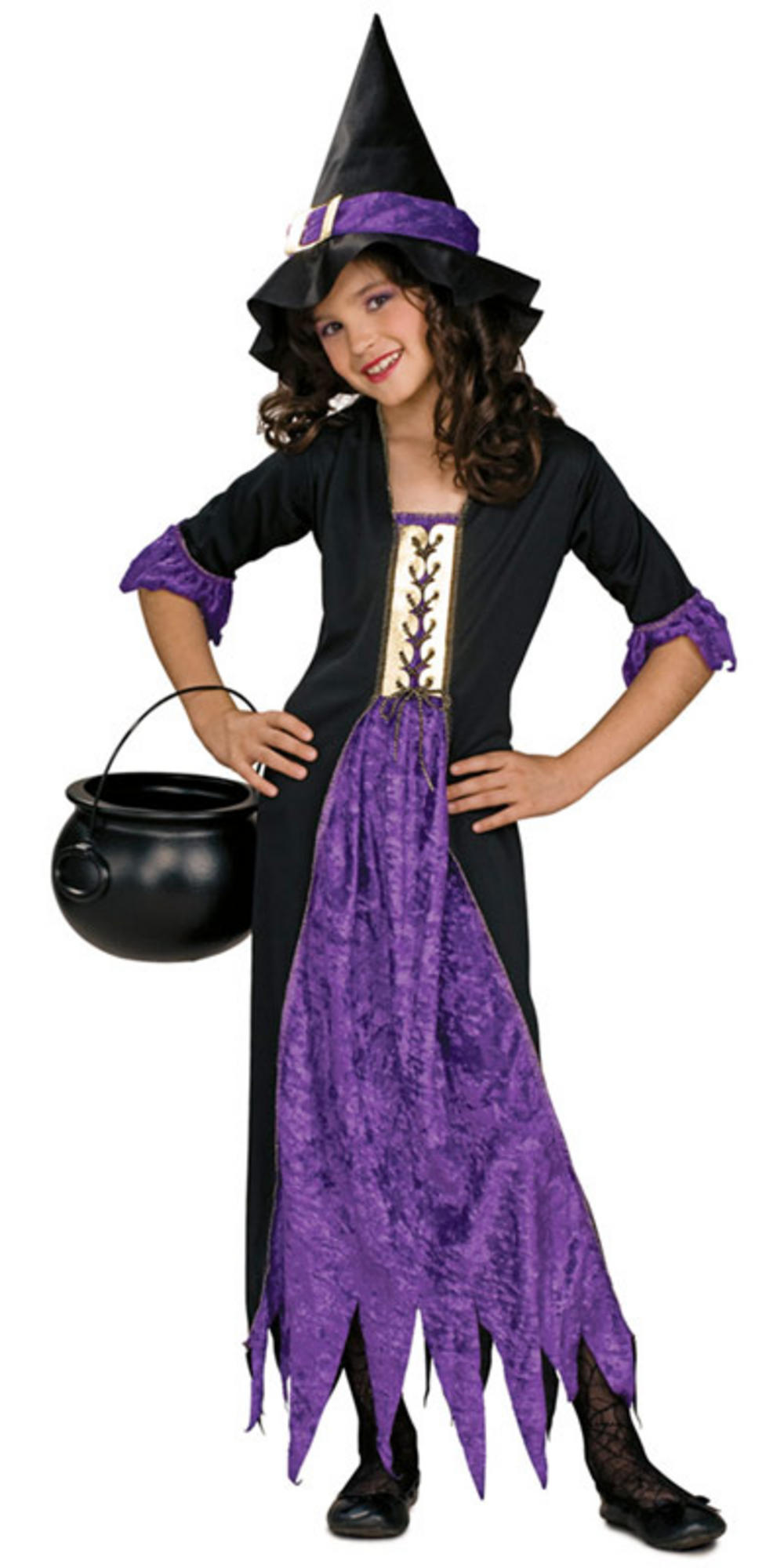 Purple witch costumes for kids