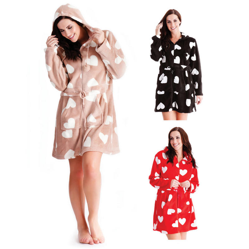 Plus Size Zip Front Dressing Gown - Formal Dresses
