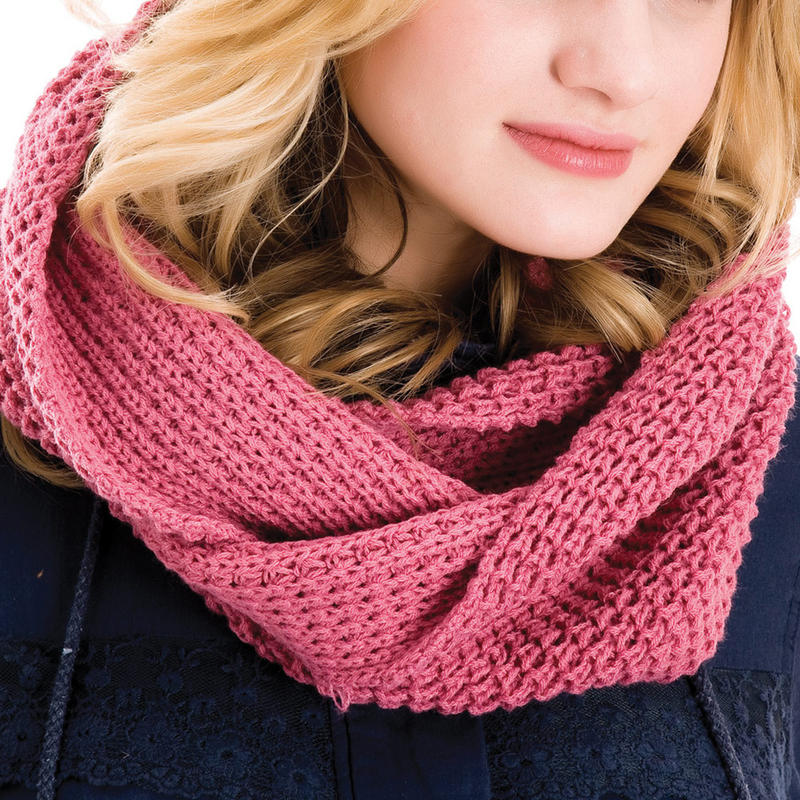 Ladies Knitted Wool Snood Looped Scarf Wrap Outdoor Winter Accessory