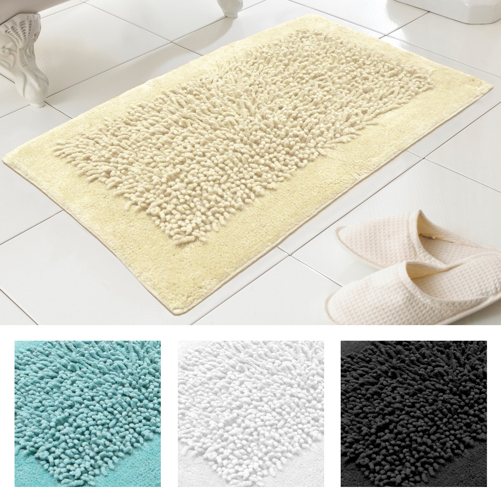 Noodles 100 Cotton Textured Washable Bath Mat Rug In