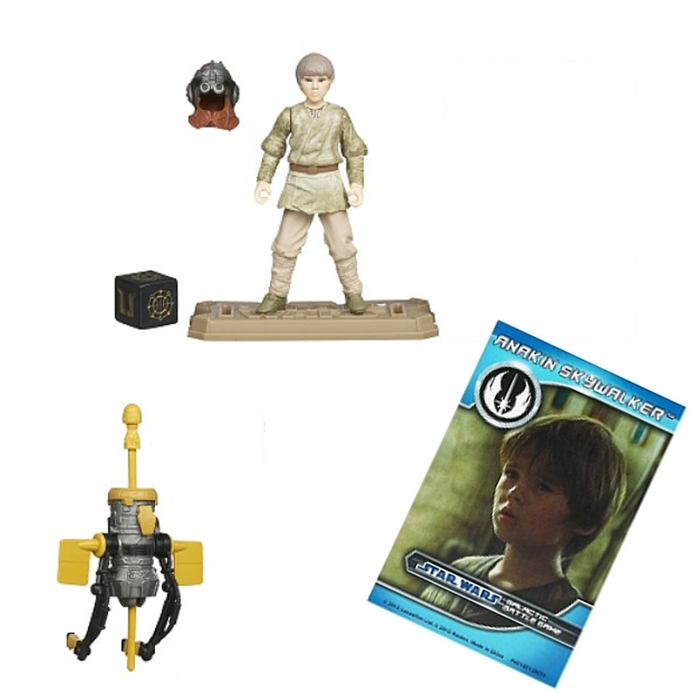 Star Wars Toy Game : Star wars action figure battle game card weapon display