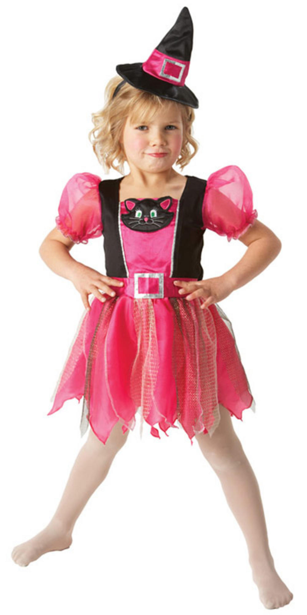 halloween cute cat costume witch kitty dress pink fancy magic delivery thumbnail