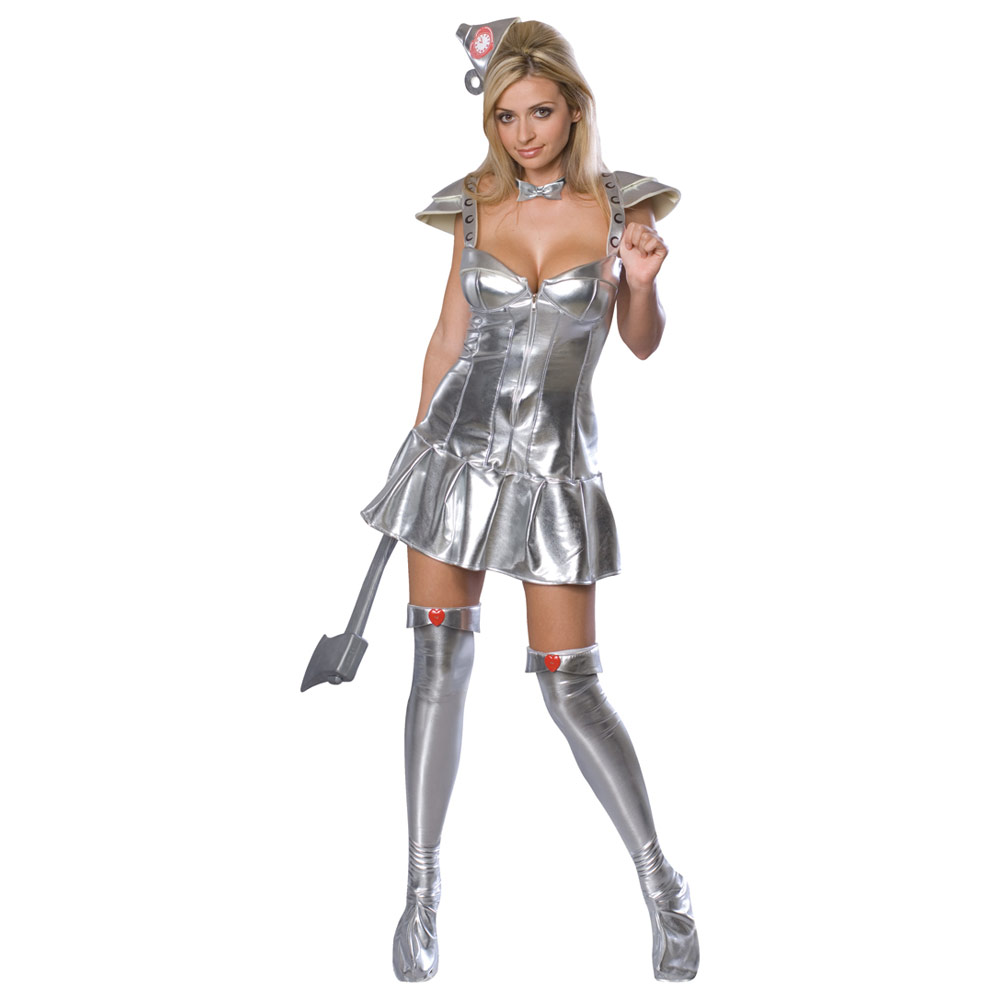 Ladies Sexy Silver Tin Woman Dorothy Wizard Of Oz Fancy Dress ...