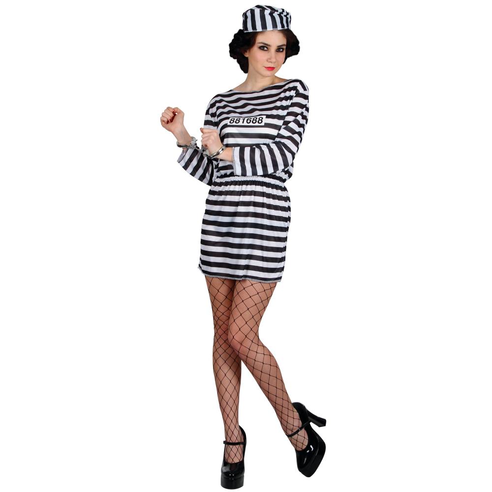 Convict Prisoner Jailbird Cutie Halloween Fancy Dress Party ...