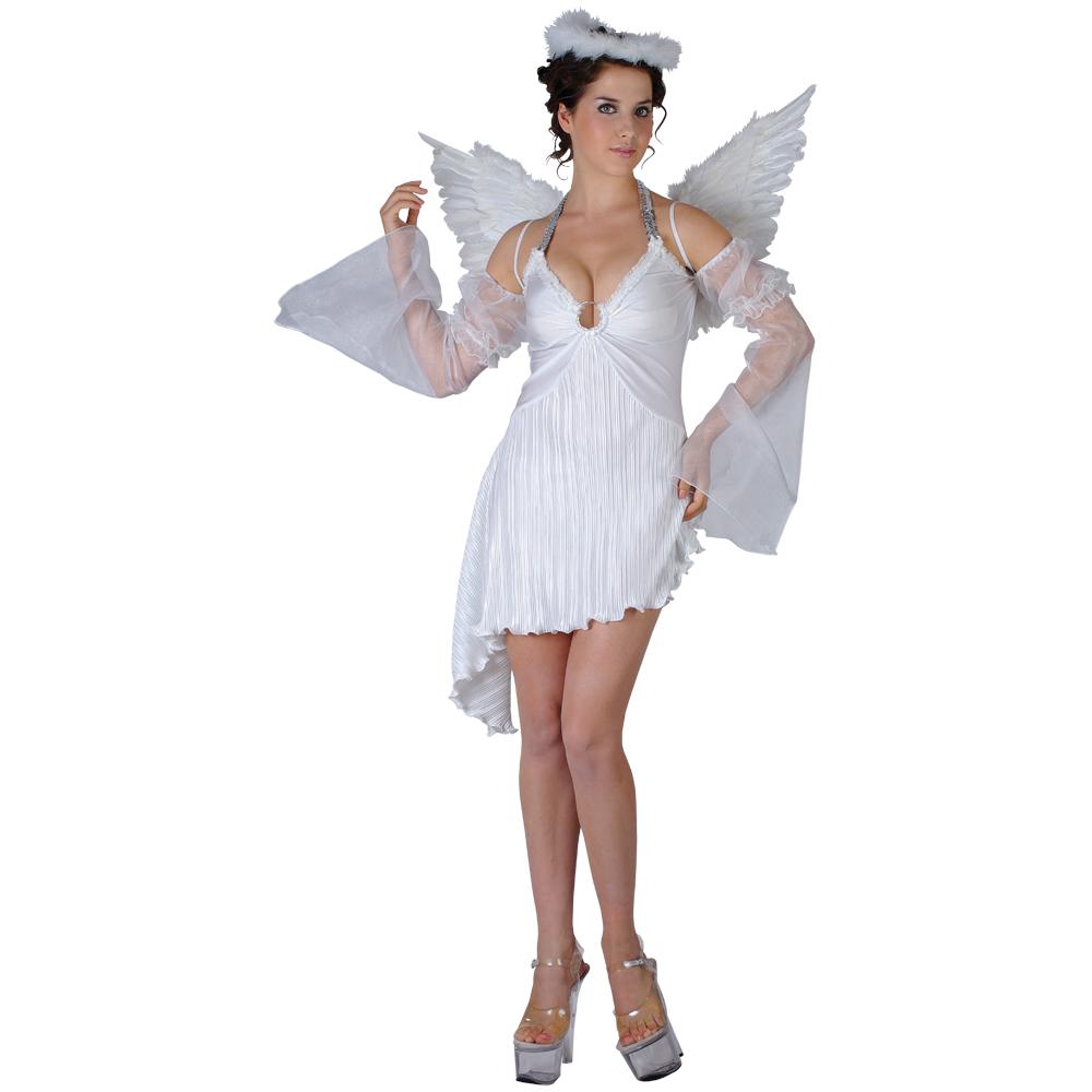 Heavenly Angel Ladies Sexy Fancy Dress Costume 20-22