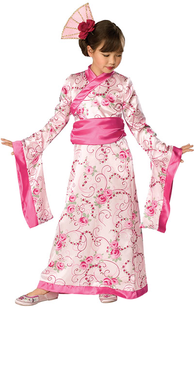 kids cute asian princess japan kimono girls fancy dress halloween party costume ebay. Black Bedroom Furniture Sets. Home Design Ideas