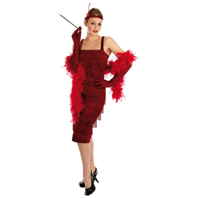 1920s Gangster Fashion Women Red teen size roaring 1920's