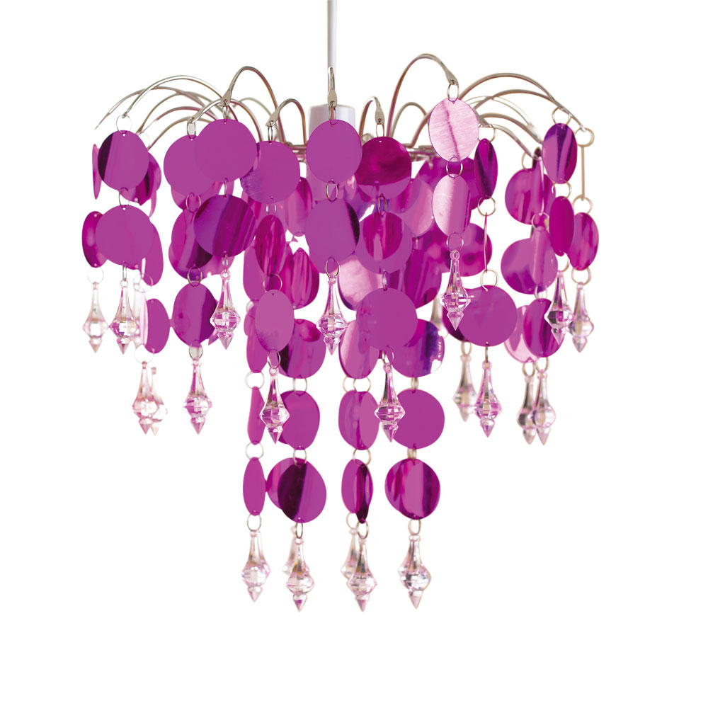 Chic Hot Pink Easy Fit Chandelier Ceiling Light Shade