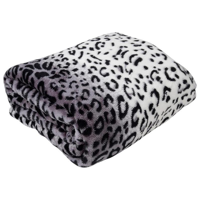 Luxurious Leopard Animal Print Microfleece Blanket Throw