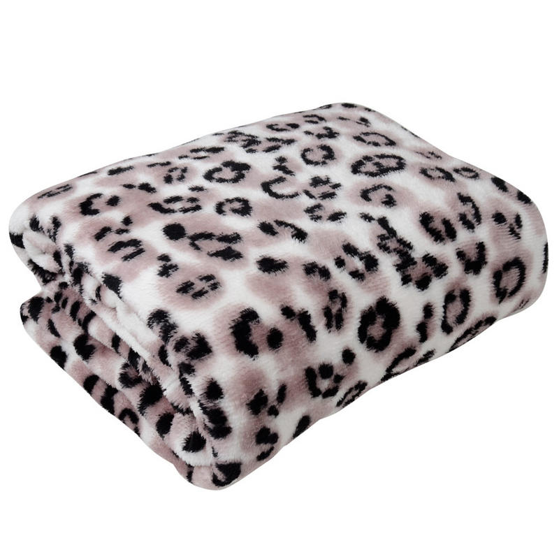 The contemporary design of this animal print throw provides a distinctive, stylish look while providing comfort and warmth. percent polyester makes for easy care and long lasting use at home or on.