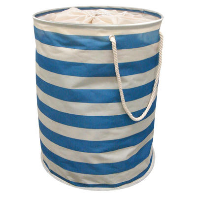 Nautical Pop Up Laundry Hamper Washing Bag With Rope Carry Handles
