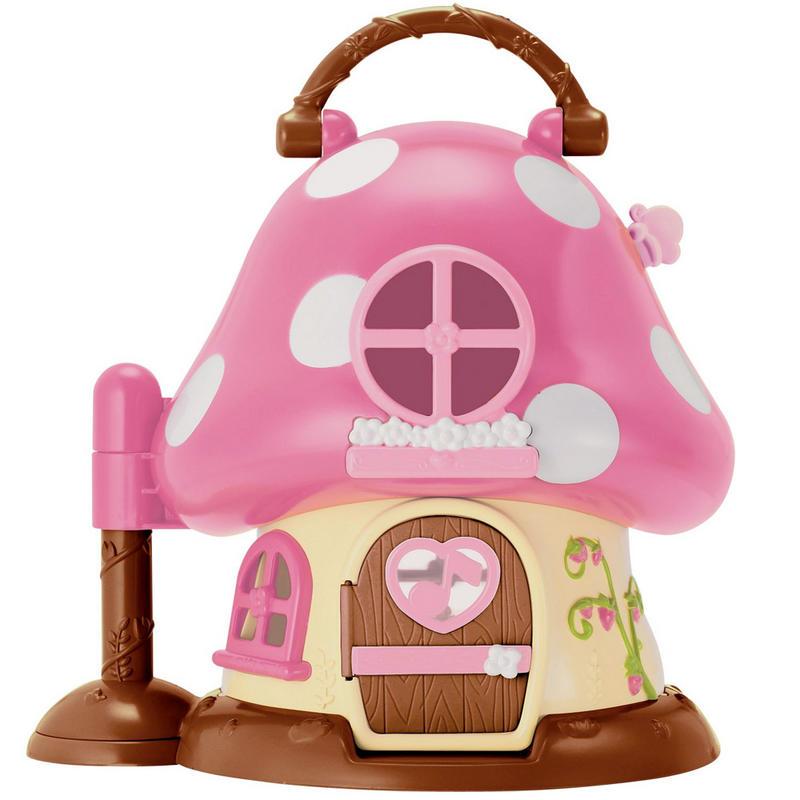 Hello Kitty Toy House : Hello kitty mushroom house play set fold out mini dolls