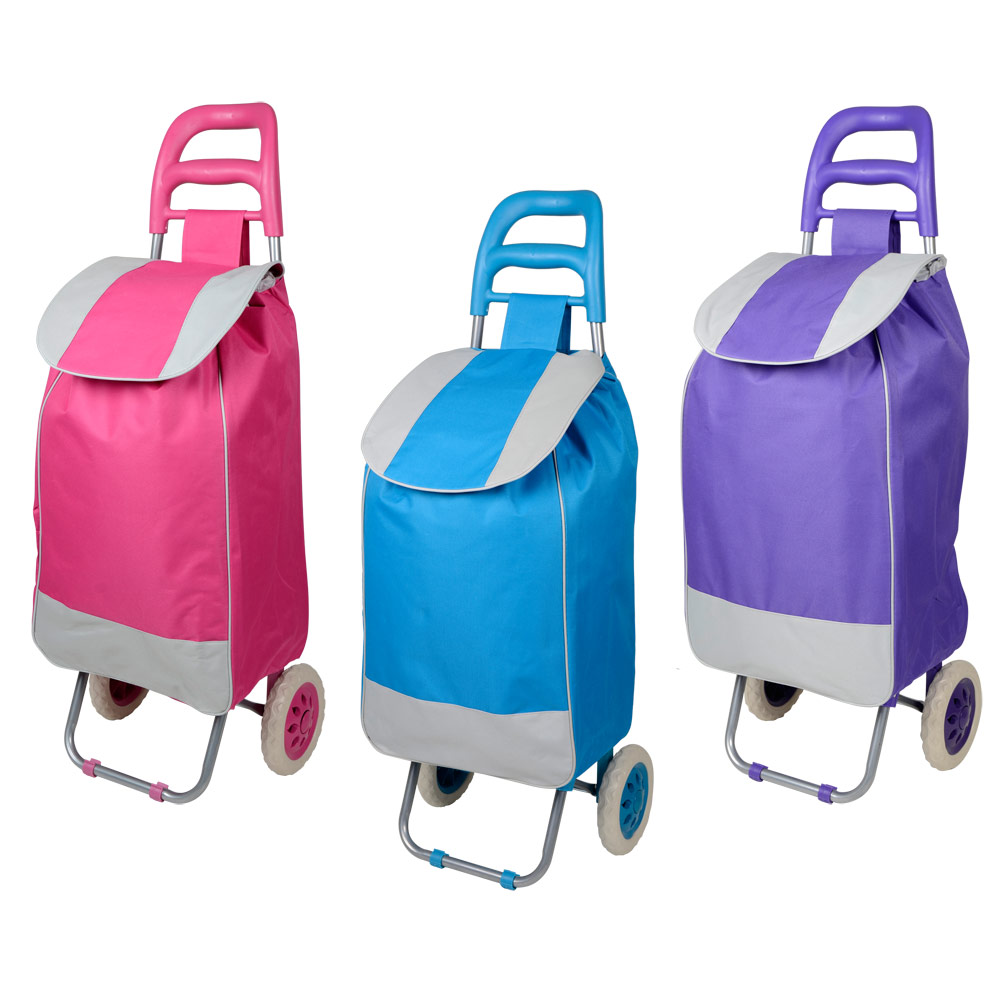 Lightweight Folding Wheeled Funky Music Festival Shopping Trolley ...