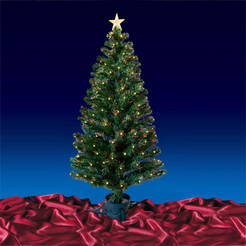 Festive 5ft 150cm Green Fibre Optic Crimbo Christmas Xmas Tree With LED Tips