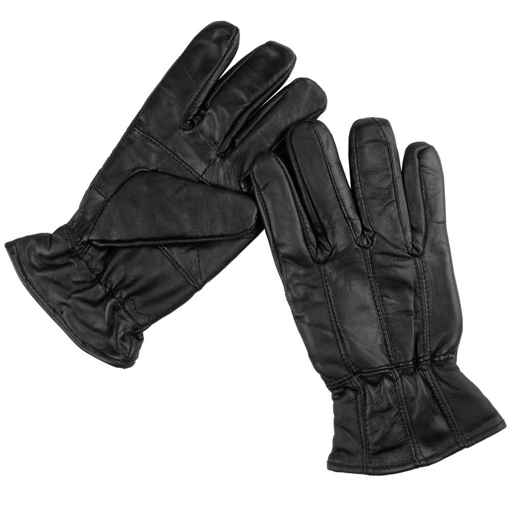 Mens black leather gloves xl -