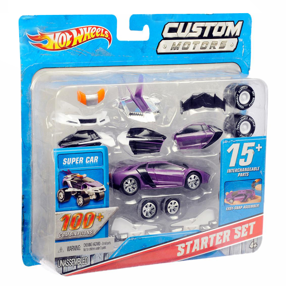 hot wheels custom motors 2 vehicles in 1 with 15. Black Bedroom Furniture Sets. Home Design Ideas