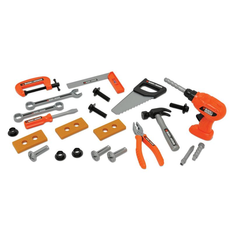 Toy Tool Set : Black decker plastic toy piece tool set age