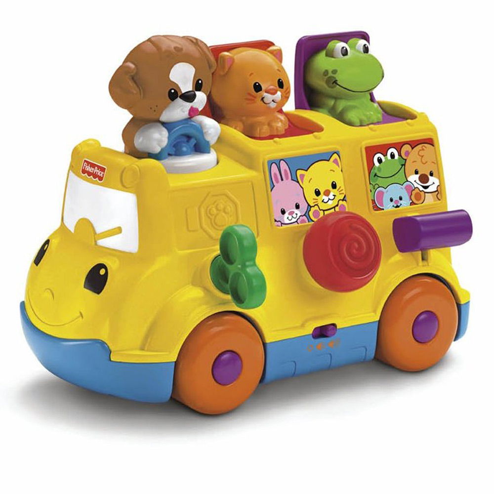 Musical Toys Age 7 : Fisher price musical activity pop up bus toy vehicle