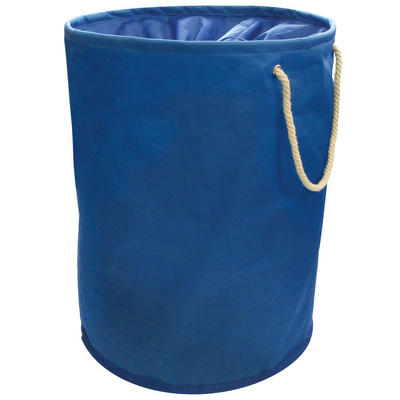 Blue Pop Up Laundry Hamper Washing Bag With Rope Carry Handles