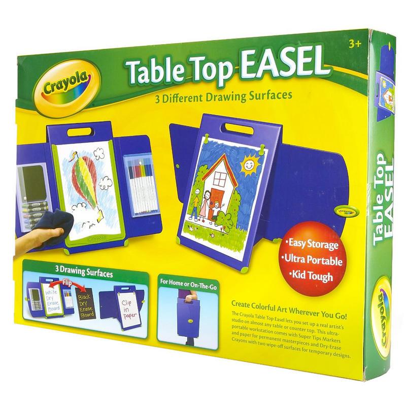 Crayola Portable Kid Tough Table Top Easel Drawing