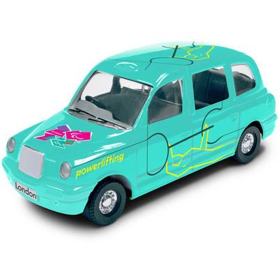1:64 Die Cast Green Taxi With Olympic Logo Powerlifting #32 Destination London 2012