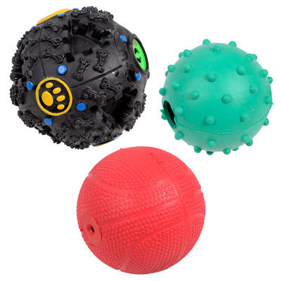 Value Pack Of 3 Assorted Puppy Dog Pooch Pet Balls Fetch Toys
