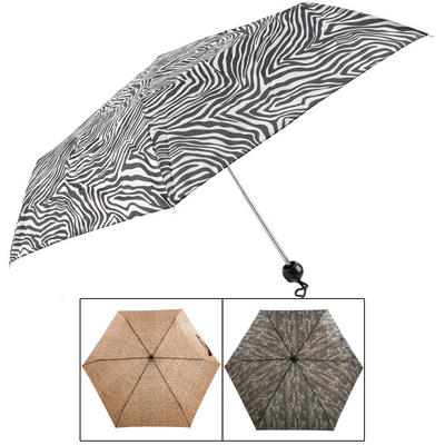 Ladies' Super Mini Umbrella Animal Prints Zebra Leopard Or Snake