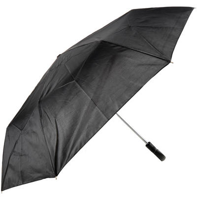 Men's Black Manual Umbrella With Crook Handle & Cover