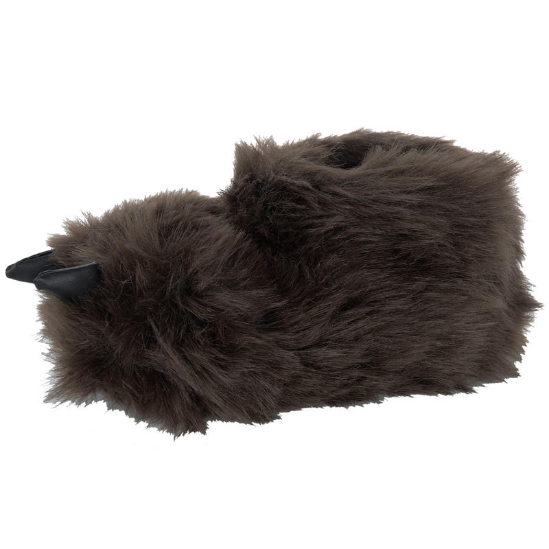 "Find a pair of un-""bear""-ably cute and fuzzy bear slippers! Our grizzly and black bear paws are best sellers and they're perfect for Mama Grizzly, Pappa Bear, or the little cubs."