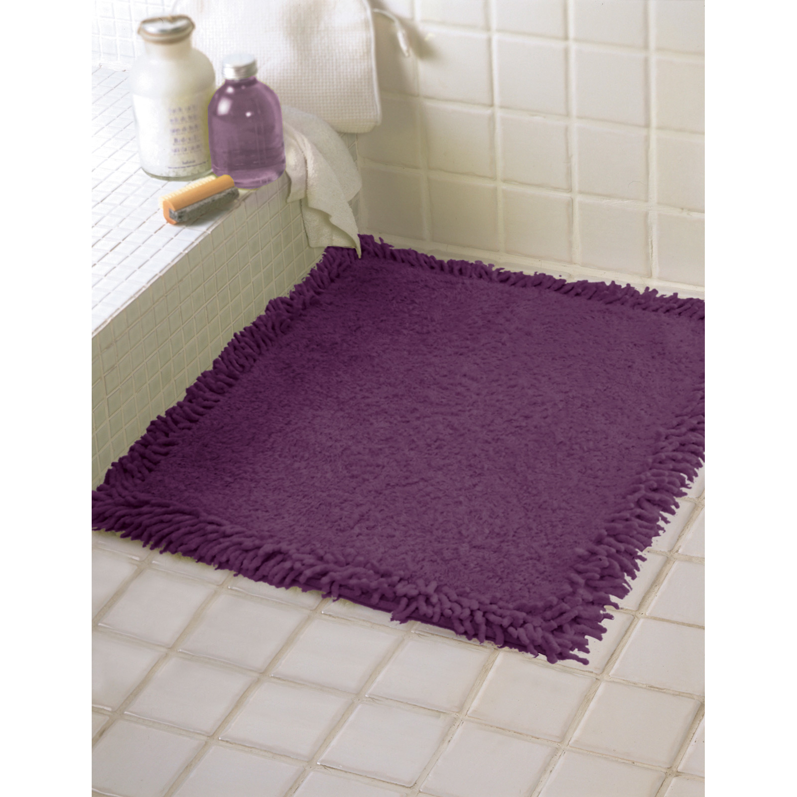 Plum Bath Rug Home Decor