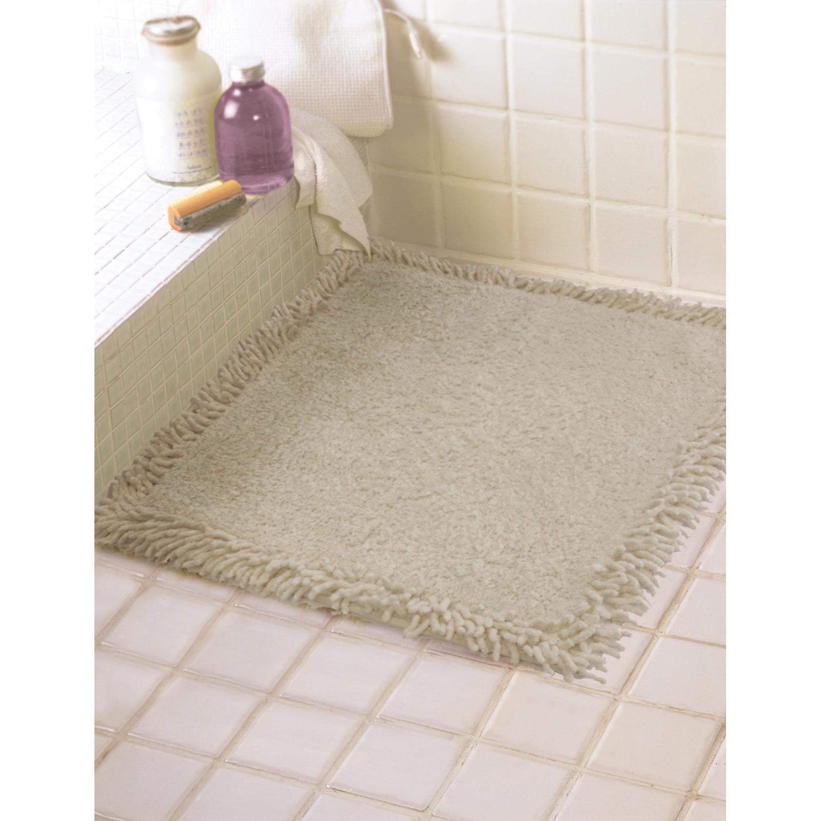 60cm x 60cm Shower Mat Floor Towel Bath Rug 100% Cotton Plum Aqua