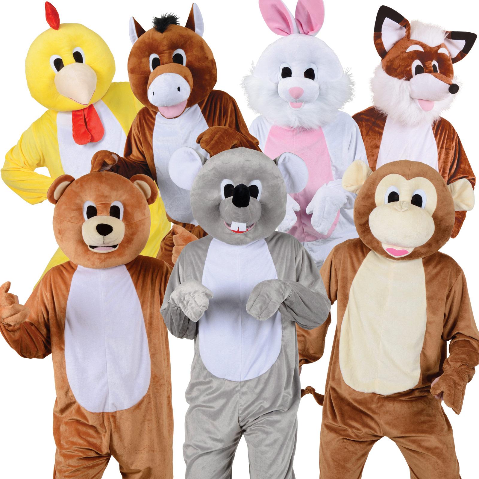 Adult Mascot Sports Charity Marathon Fun Run Animal Fancy Dress Party Costume