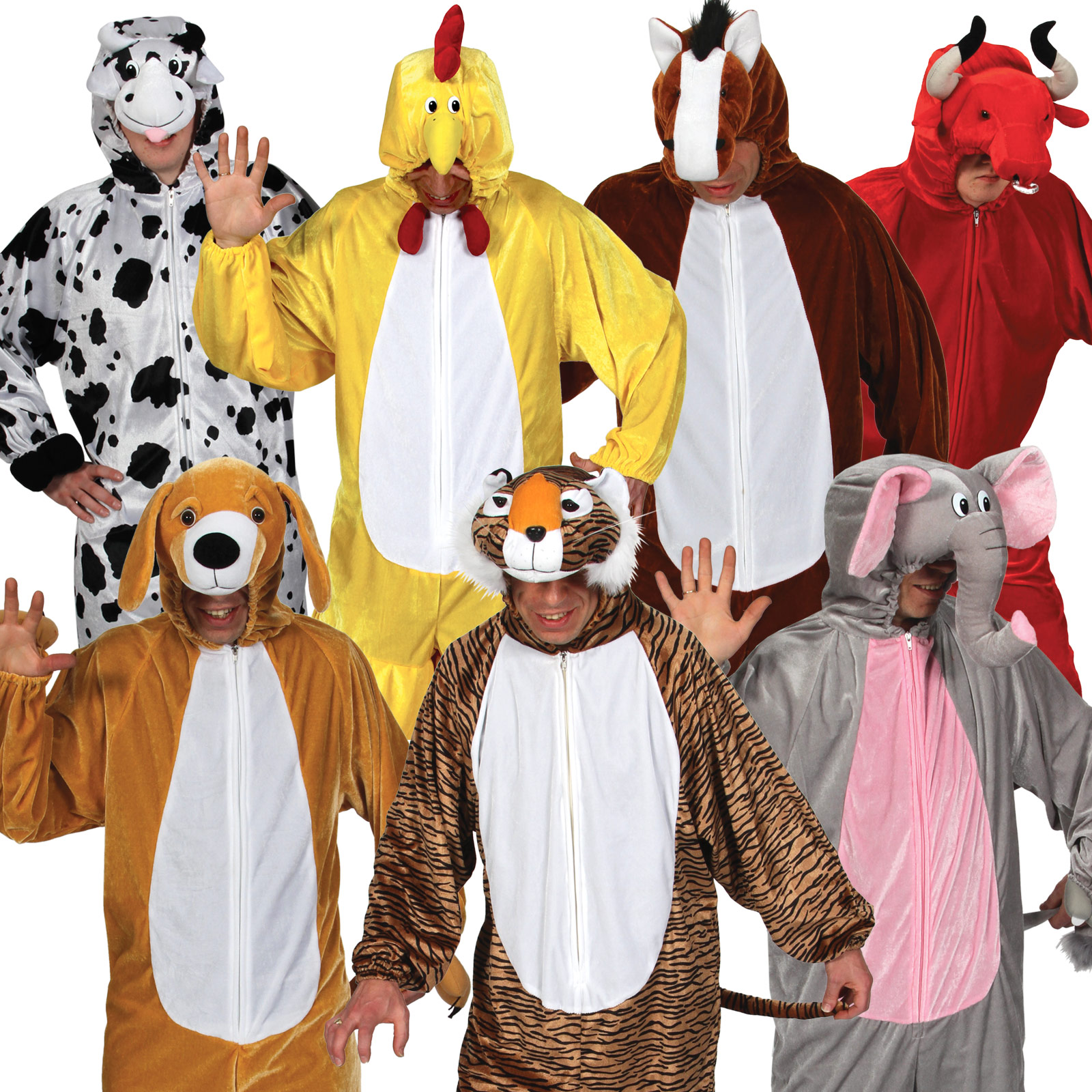 Adult Zoo / Jungle / Farm Animal Fancy Dress Halloween Party ...