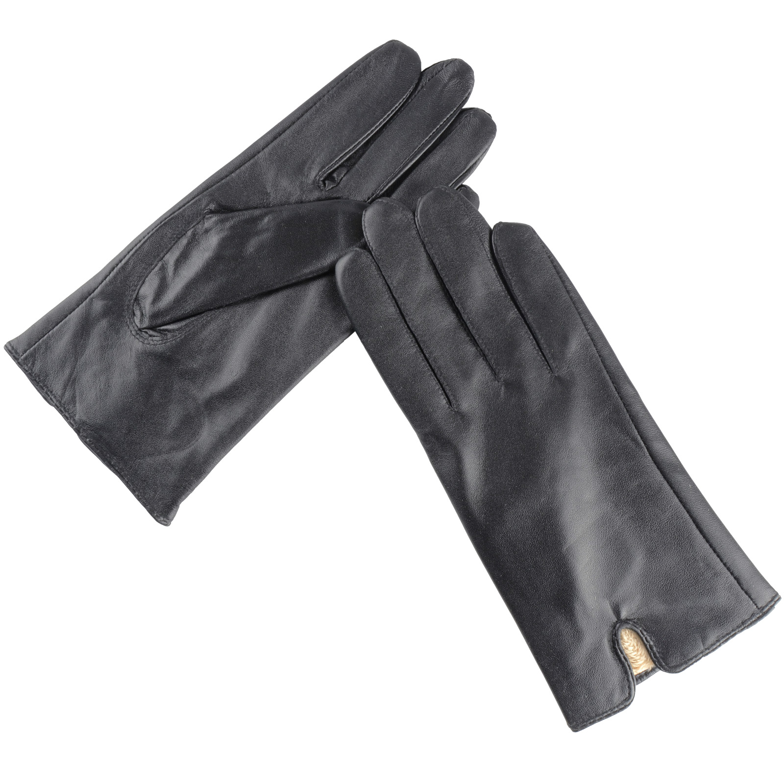 Ladies leather gloves extra small - Ladies Sheepskin Leather Gloves Soft Cosy Lining Black