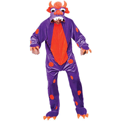 Purple TV Film Dream Fantasy Monster One Piece Fancy Dress Costume