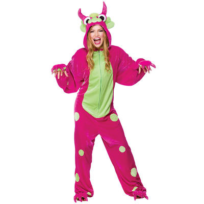 Pink TV Film Fantasy Dream Monster One Piece Fancy Dress Party Costume
