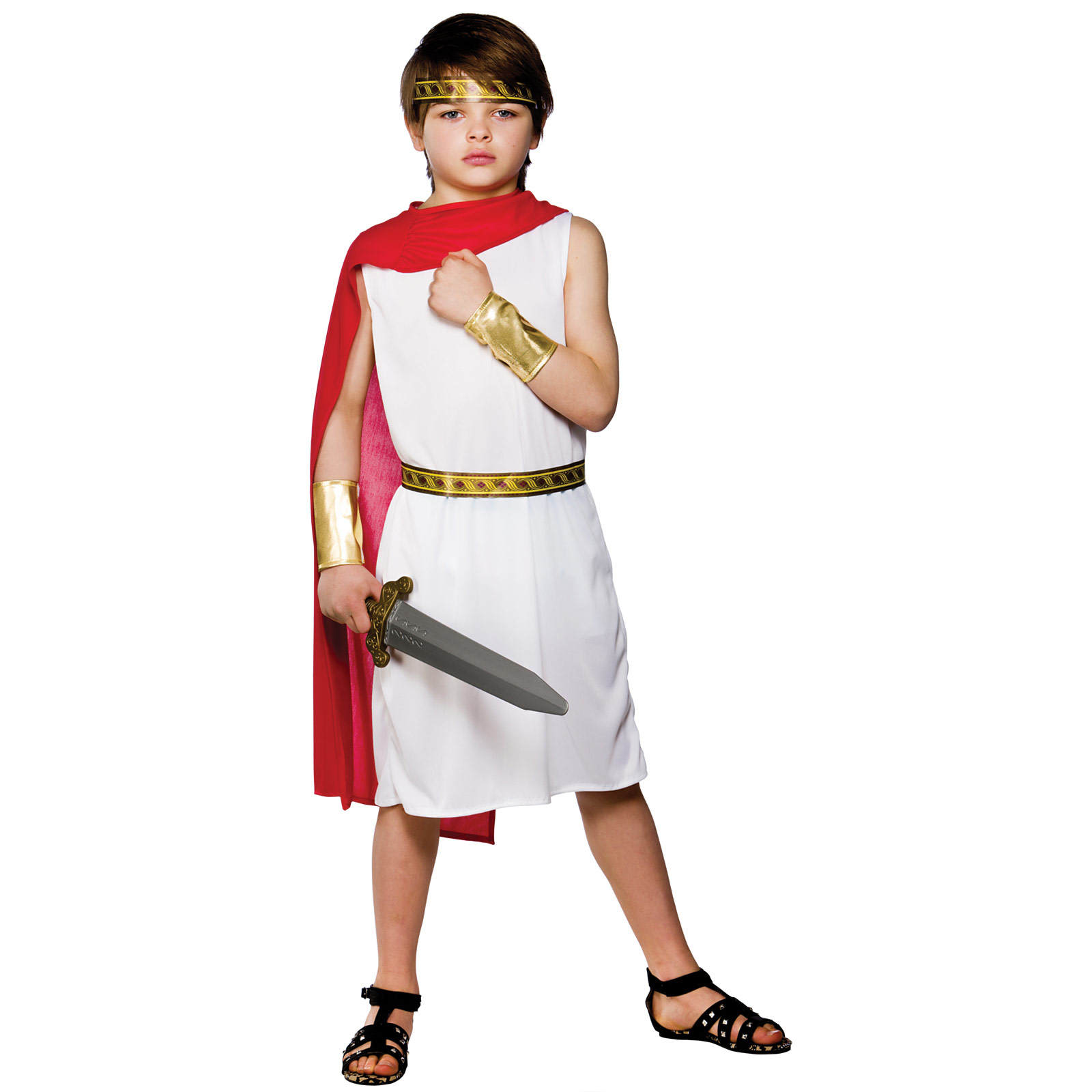 Boys Roman Boy Costume Fancy Dress Up Halloween Party Toga ...