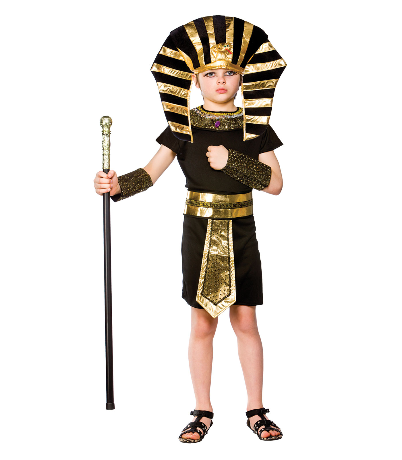 boys egyptian pharaoh costume fancy dress up halloween party historical king tut - Egyptian Halloween Costumes For Kids