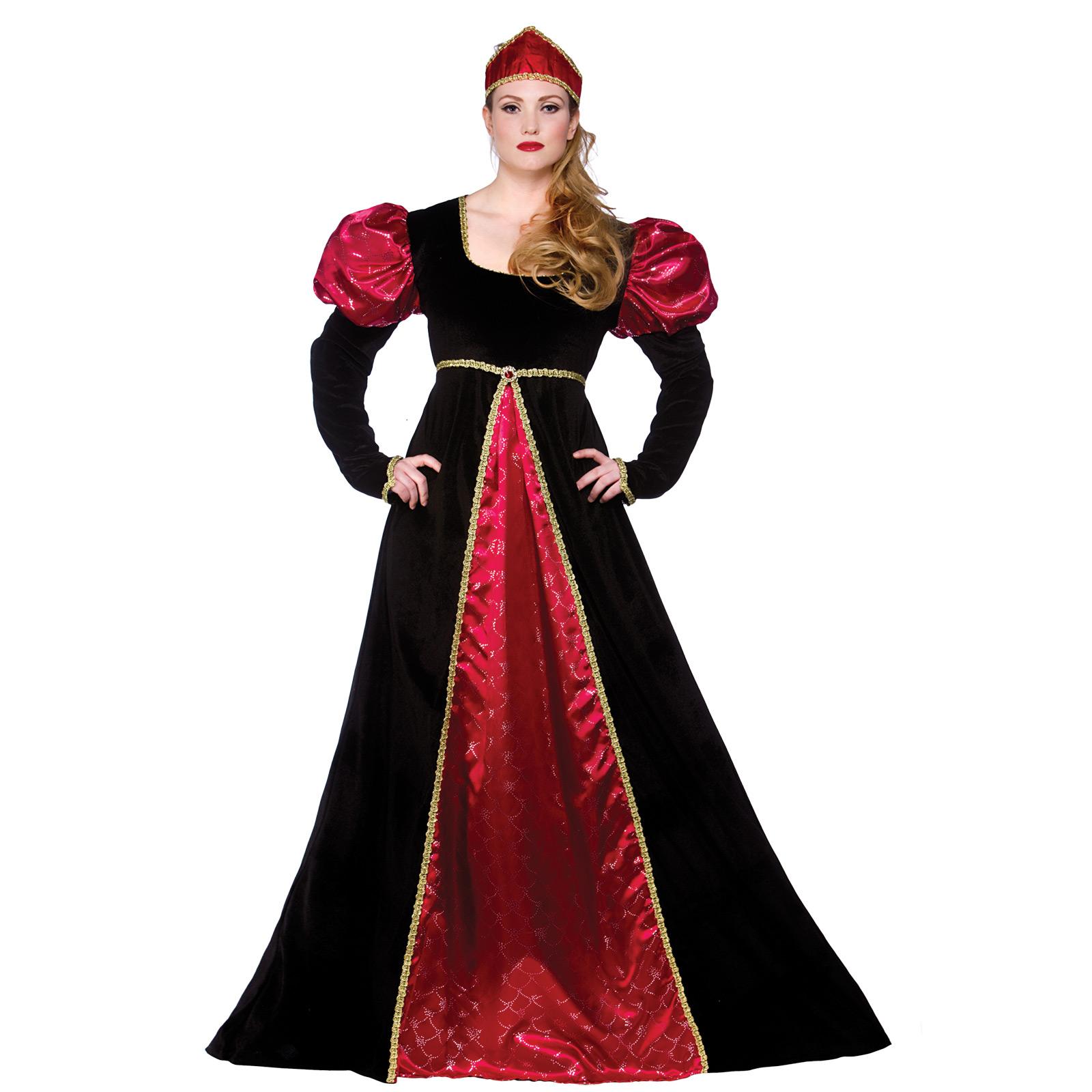 Medieval Queen Empress Historical Womens Halloween Fancy ...