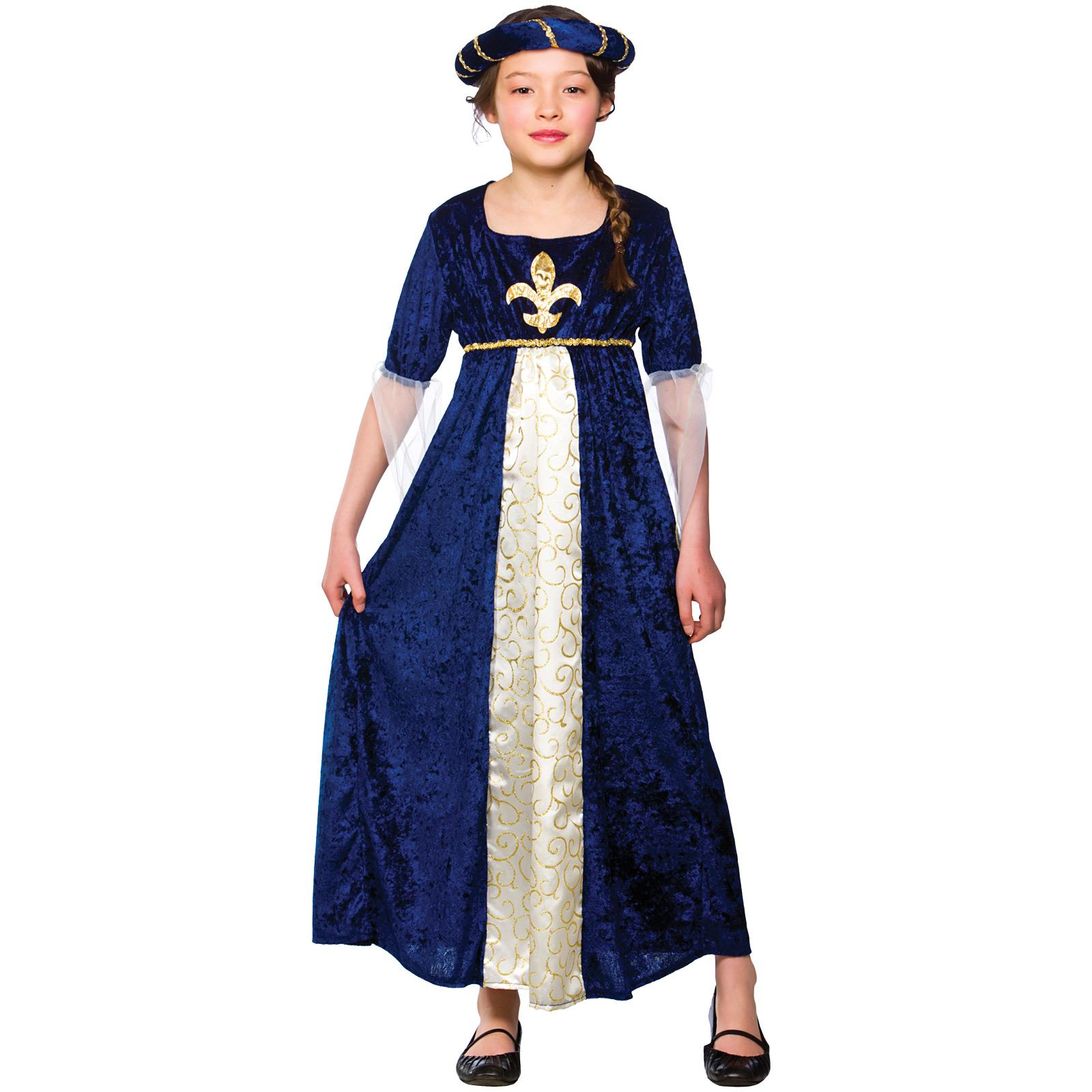 Girls-Regal-Princess-Costume-Fancy-Dress-Up-Party-  sc 1 st  eBay & Girls Regal Princess Costume Fancy Dress Up Party Halloween Medieval ...
