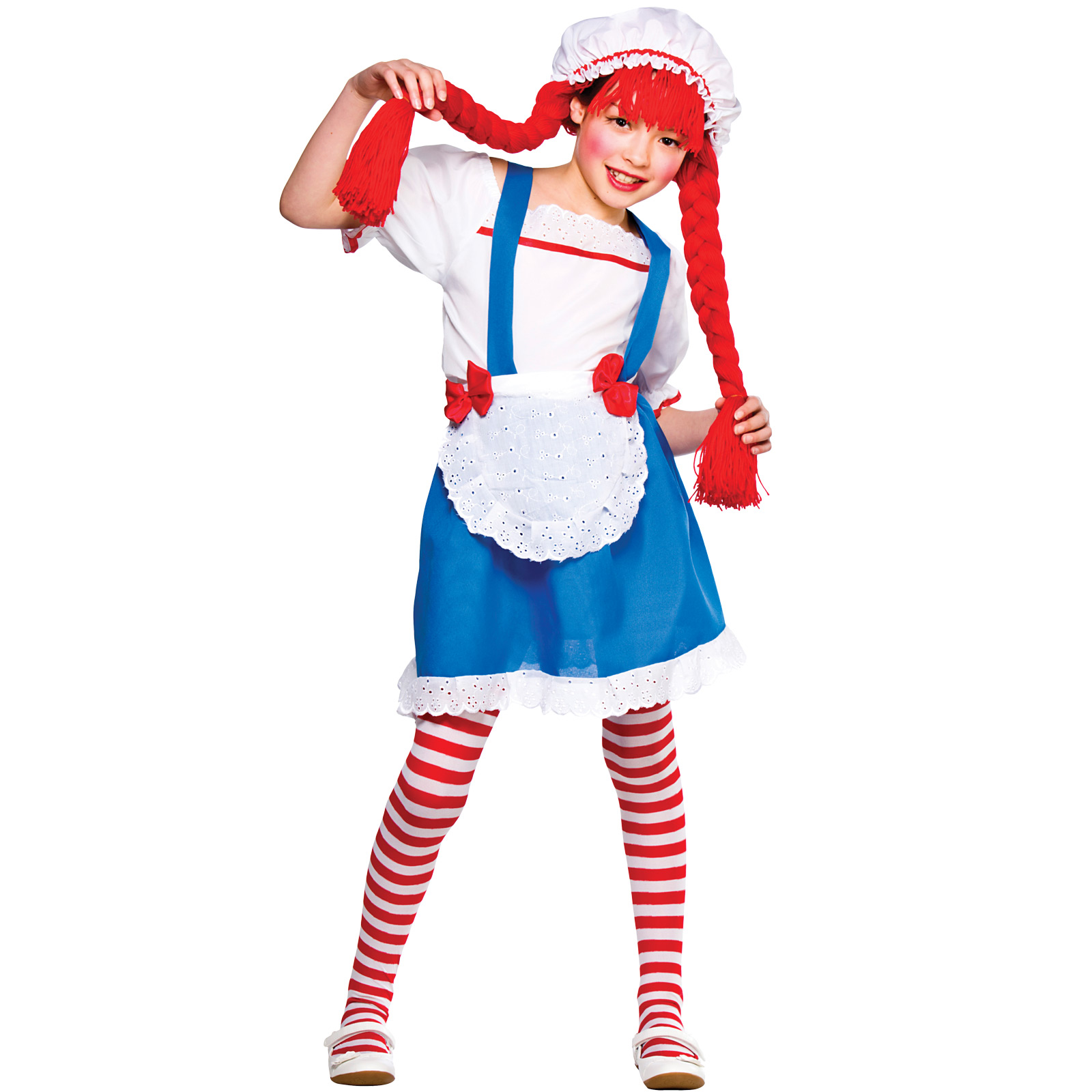 Girls Little Rag Doll Costume Fancy Dress Up Party Halloween Outfit