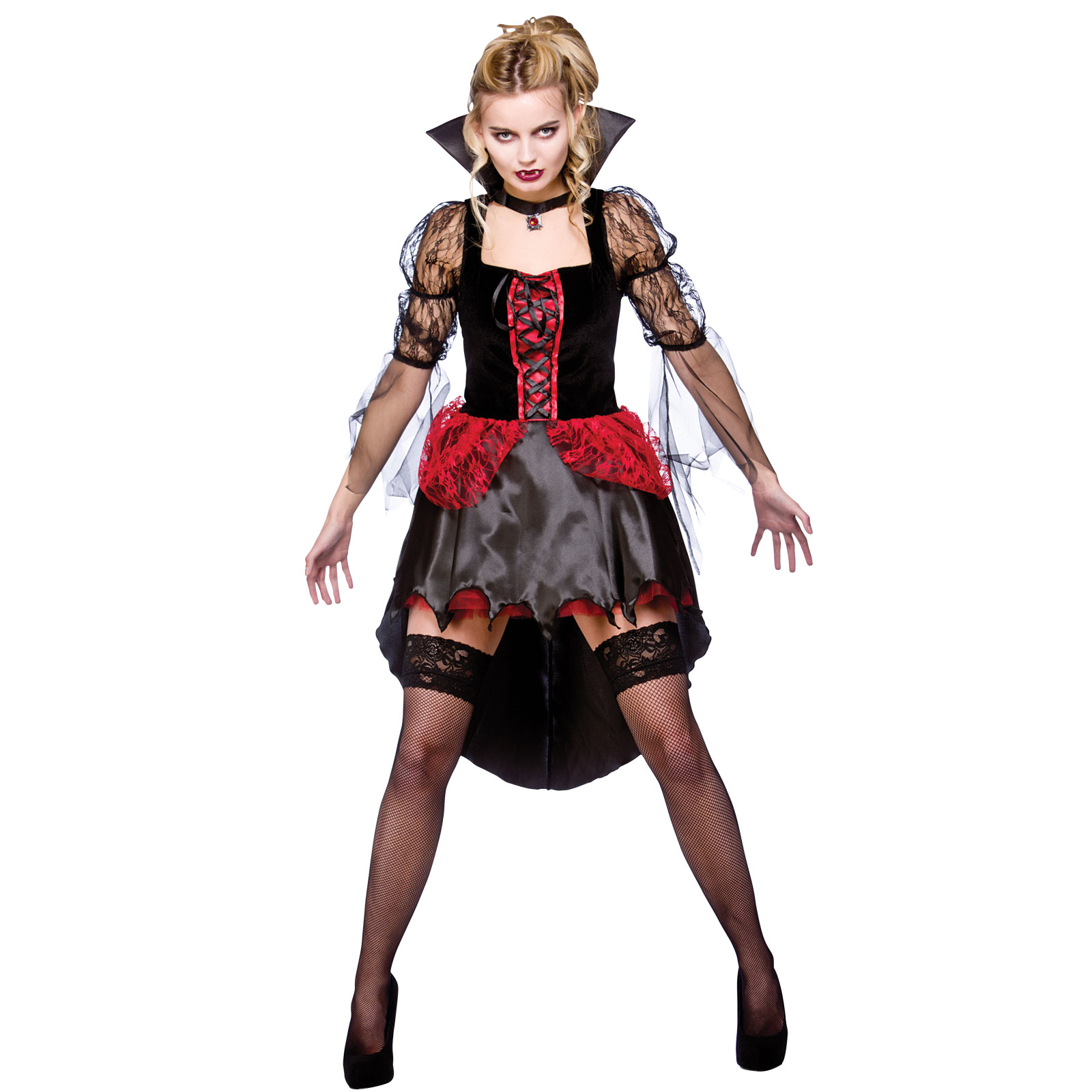 womans adults burlesque vamp horror scary halloween fancy dress costume outfit ebay. Black Bedroom Furniture Sets. Home Design Ideas