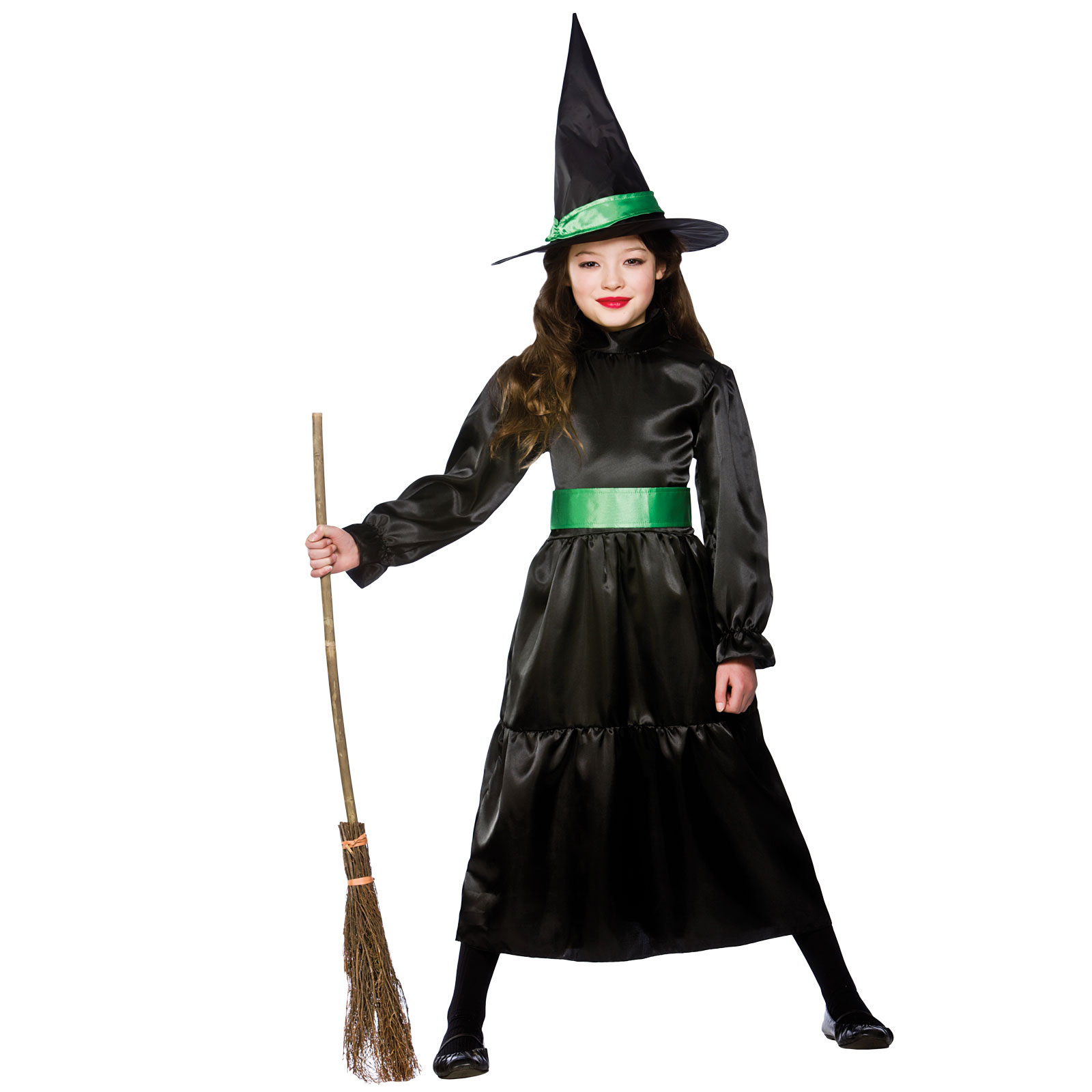 Childrends Girls Wicked Witch Halloween Horror Scary Fancy Dress ...