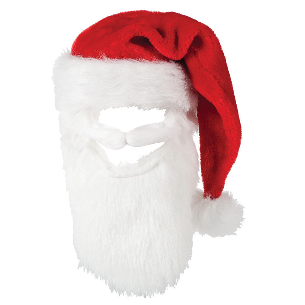 Santa Beard Deluxe santa hat with moustash