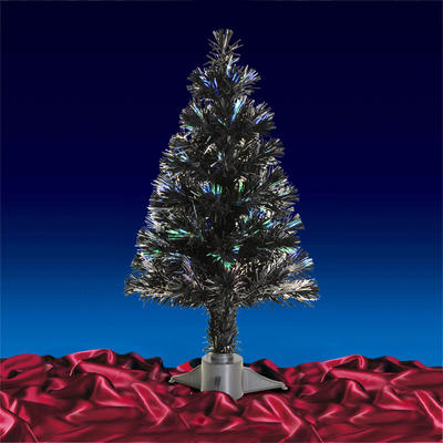 2ft 60cm Beautiful Black Christmas Tree With Multi Coloured Fibre Optics