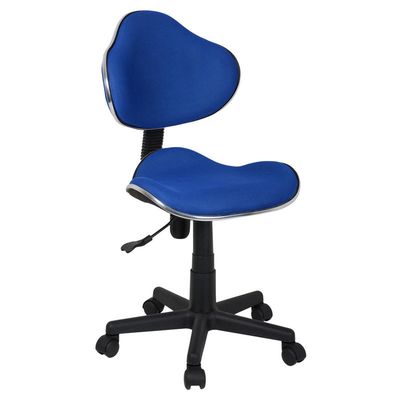 Blue adjustable swivel computer desk office chair seat for Blue office chair
