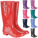 Ladies & Girls Coloured Gloss Wellington Boots