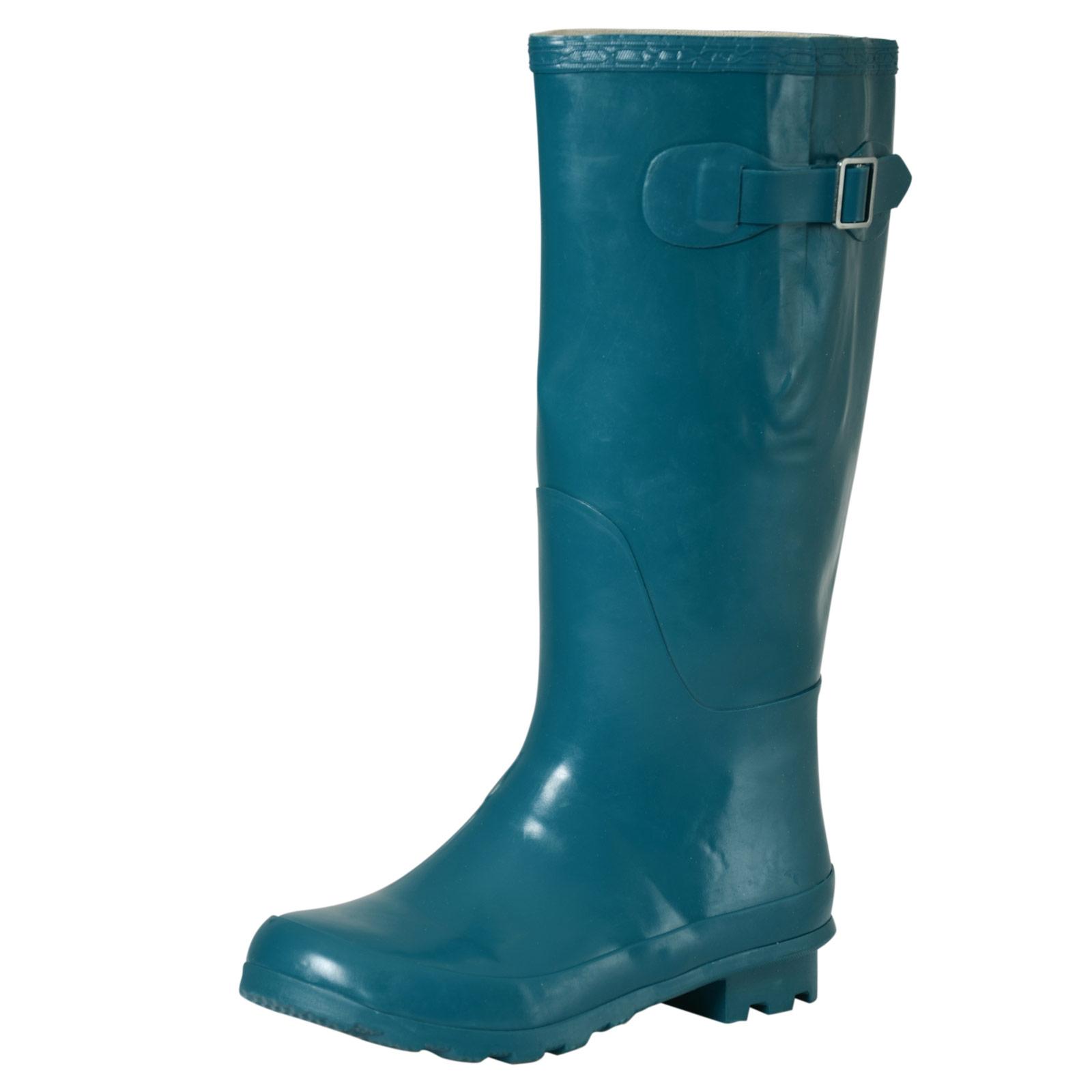 Ladies Girls Coloured Gloss Wellington Boots Fashion Festival Waterproof Wellies