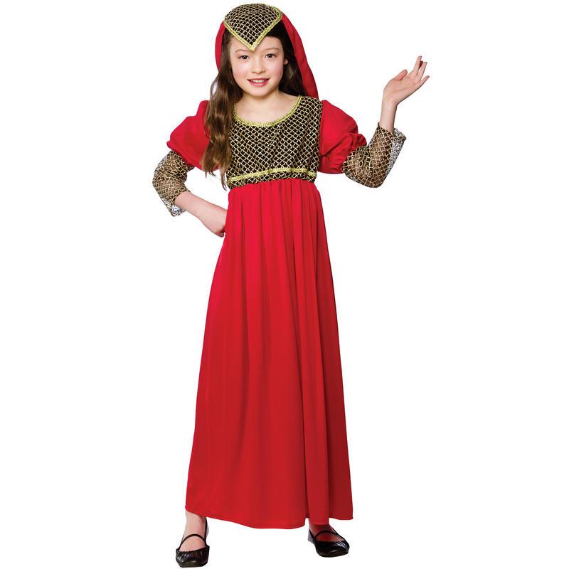 Halloween Girls Princess Fancy Dress Up Costume Outfits: Girls Red Princess Juliet Fancy Dress Halloween Costume