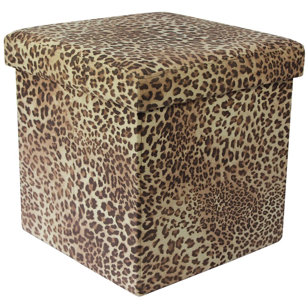 38cm Folding Storage Pouffe Cube Foot Stool Seat Ottoman Toy Box